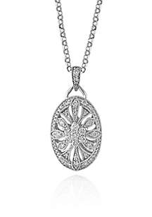 Diamond Pendant Necklace in 14K White Gold