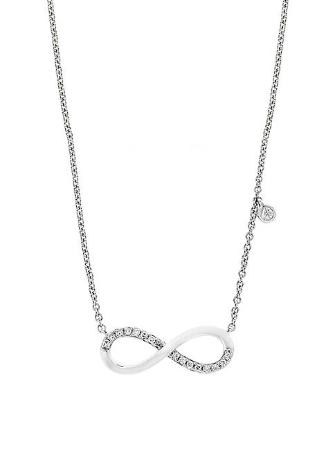 Effy® Sterling Silver Diamond Infinity Pendant Necklace