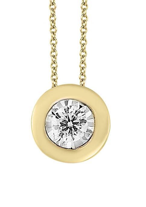 Effy® 1/5 ct. t.w. Diamond Bezel Illusion Pendant