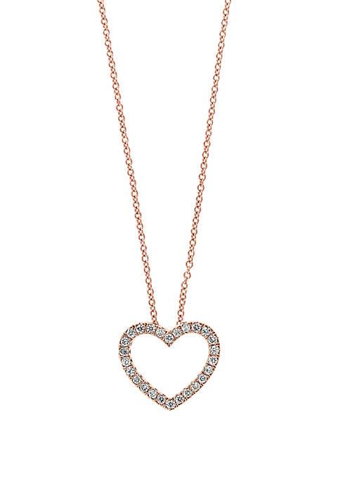 Effy® 1/4 ct. t.w. Diamond Heart Pendant Necklace