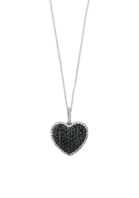 Effy® 1.65 ct. t.w Black Diamond Heart Pendant