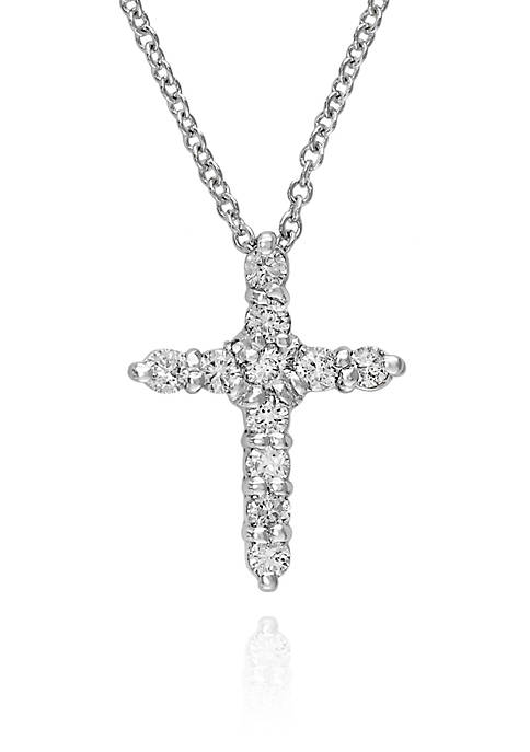 Effy® 0.22 ct. t.w. Diamond Cross Necklace in
