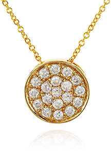 0.25 ct. t.w. Diamond Round Pendant Necklace in 14K Yellow Gold