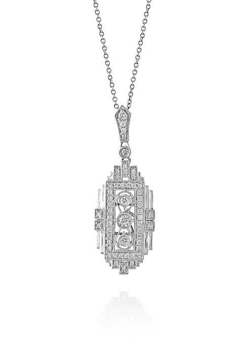 Effy® Diamond Pendant Necklace in 14K White Gold