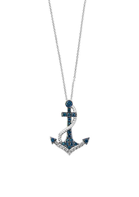 Effy® Sterling Silver Anchor Pendant Necklace
