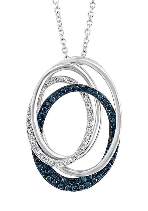 Effy® 1/2 ct. t.w. Diamond Bella Blue Pendant