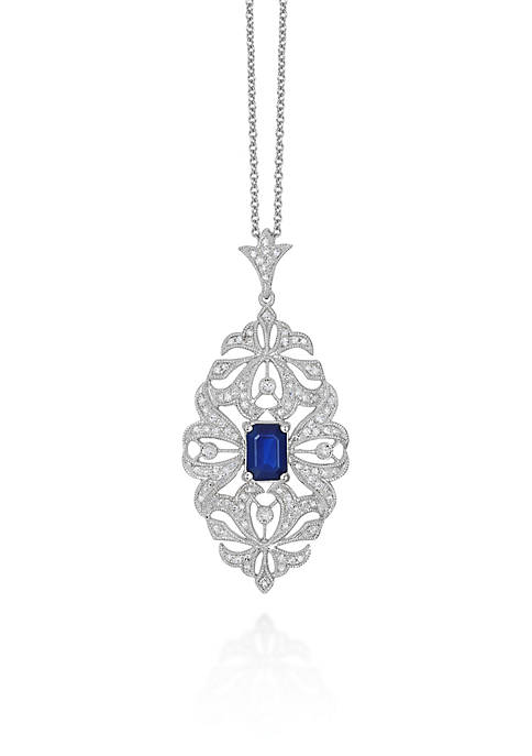 Effy® Emerald Sapphire & Diamond Necklace in 14K