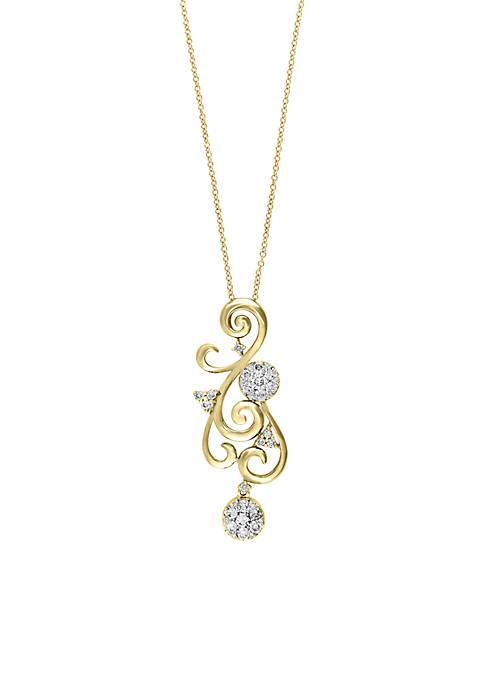 Effy® 5/8 ct. t.w. Diamond Pendant Necklace in