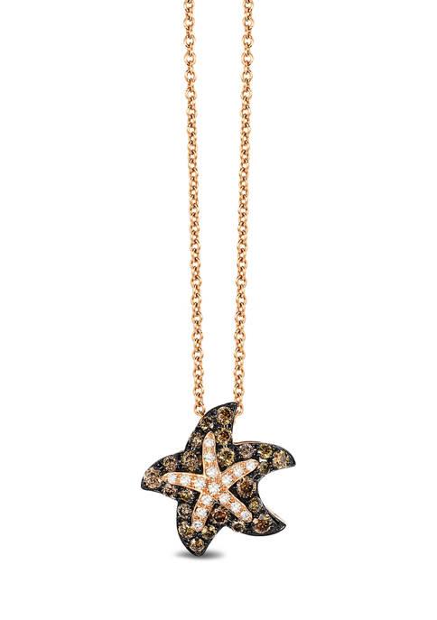 Effy® 1/3 ct. t.w. Diamond Starfish Pendant Necklace