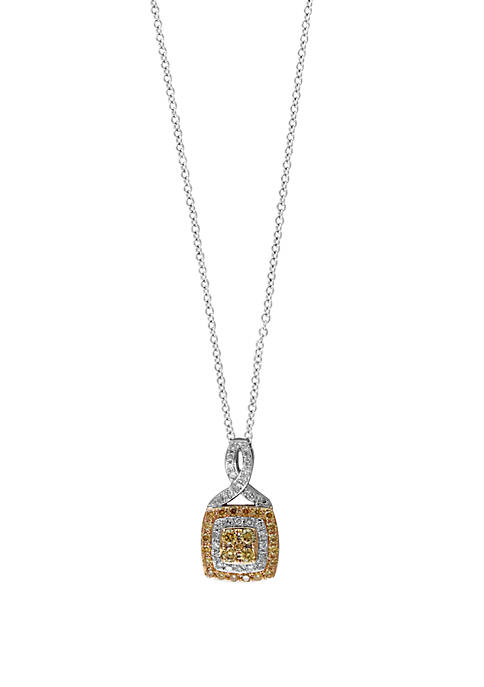Effy® 3/8 ct. t.w. White and Natural Yellow
