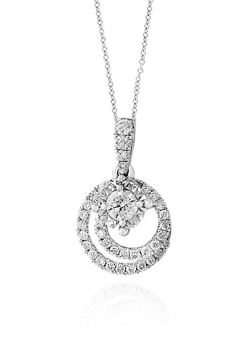 Effy® 0.25 ct. t.w. Diamond Swirl Pendant Necklace