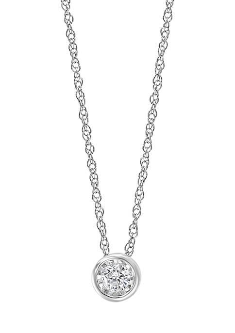 Effy® 1/5 ct. t.w. Diamond Solitaire-Cut Pendant Necklace