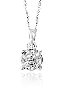 0.20 ct. t.w. Diamond Pendant Necklace in Sterling Silver