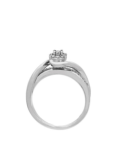 My Forever 1/10 ct. t.w. Diamond Bridal Ring in Sterling Silver
