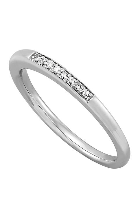 0.04 ct. t.w Diamond Band Ring in 10k White Gold