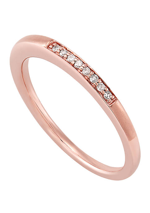 0.04 ct. t.w. Diamond Band Ring in 10k Rose Gold