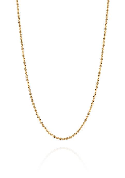 Belk & Co. Glitter Chain Necklace in 14K