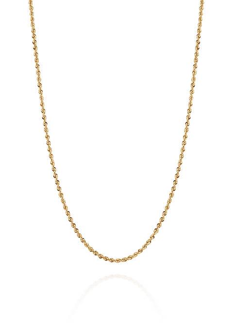 Belk & Co. Ultimate Glitter Chain Necklace in