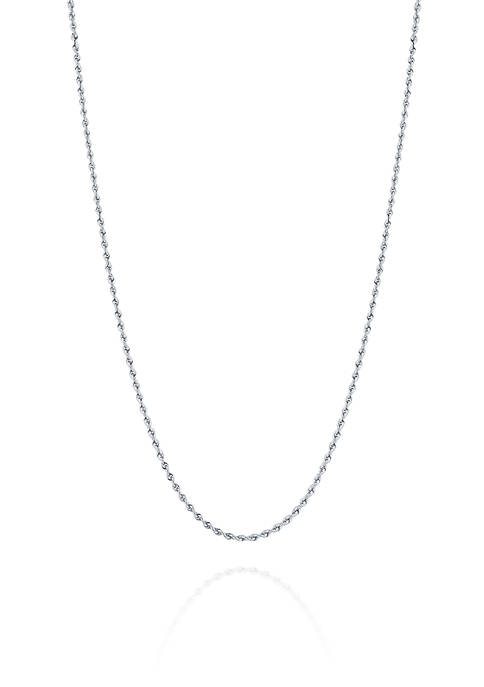 Belk & Co. Glitter Chain Necklace in 14K