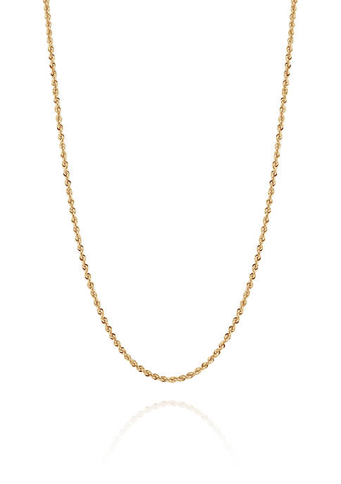 Belk & Co. 14K Gold Glitter Rope Chain