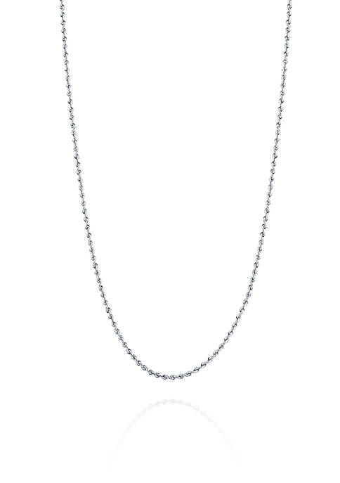 Chain Necklace in 14K White Gold