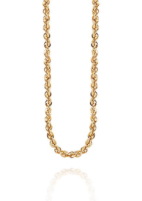 Belk & Co. Glitter Chain in 14K Yellow