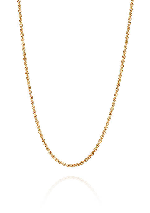 Belk & Co. 1.5 Millimeter Glitter Necklace in