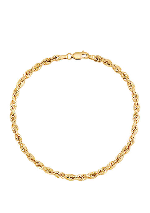 Belk & Co. Mens Gold Glitter Bracelet in