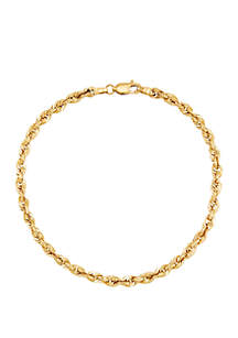 Belk & Co. Men's Gold Glitter Bracelet in 14k Yellow Gold