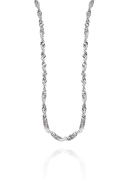 1.35 Millimeter Sparkle Necklace in 14K White Gold