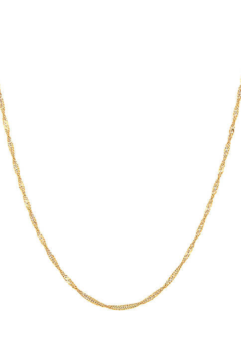 Belk & Co. 10K Yellow Gold Chain Necklace