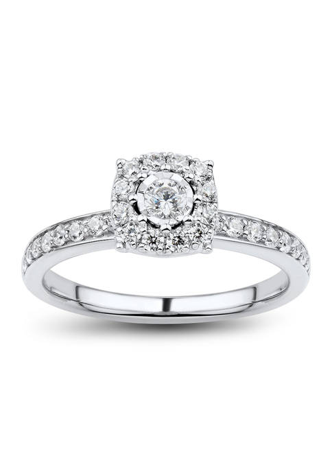 1/2 ct. t.w. Diamond Engagement Ring in 10K White Gold