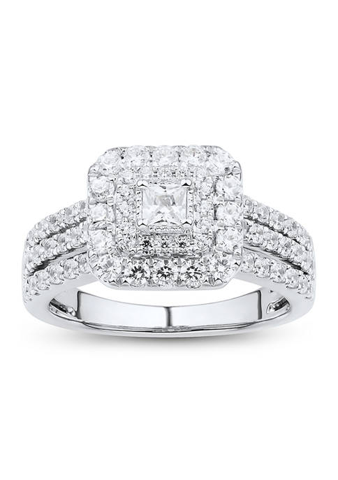 1 ct. t.w. Diamond Engagement Ring in 10K White Gold