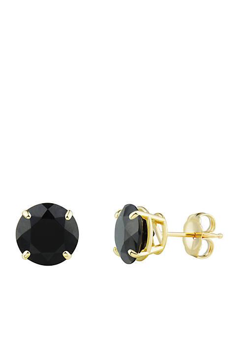 Belk & Co. 8 Millimeter Onyx Earrings in