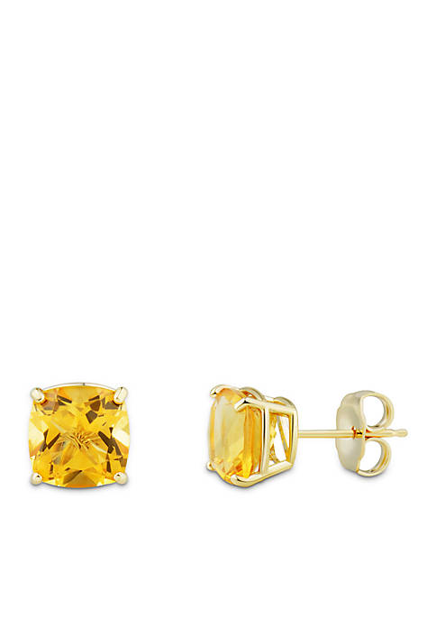 Belk & Co. Cushion Citrine Earrings in 10k