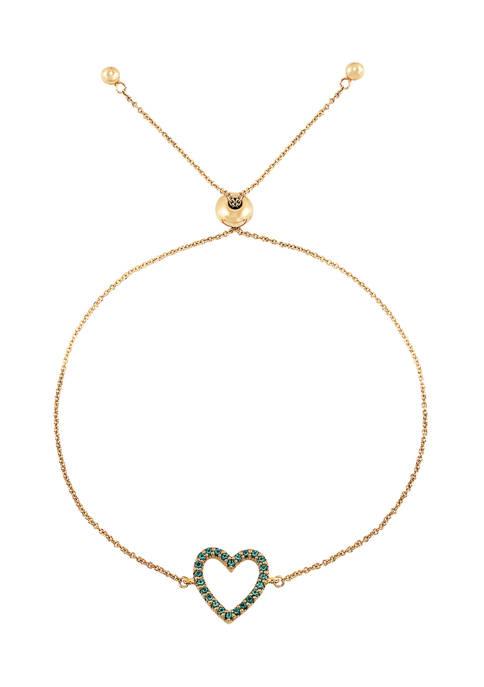 1/4 ct. t.w. Lab Created Ruby Heart Bracelet  in 10K Gold