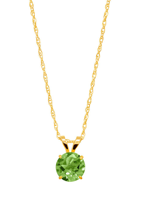 1 ct. t.w. Peridot Pendant Necklace in 14K Yellow Gold