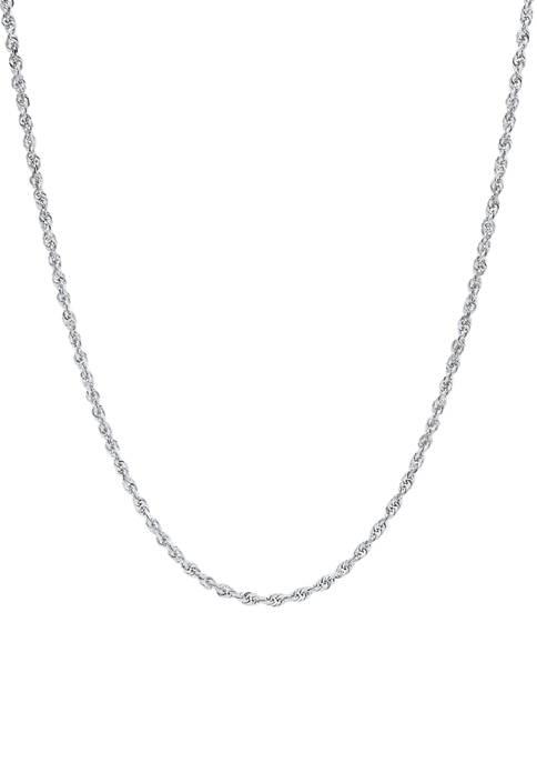 Belk & Co. Solid Glitter Chain in 10K
