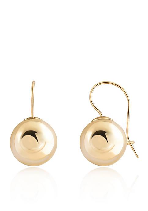 Belk & Co. Ball Earrings in 14K Yellow