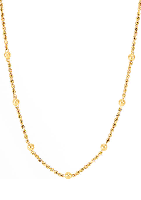 Belk & Co. Rope Chain Necklace in 14K