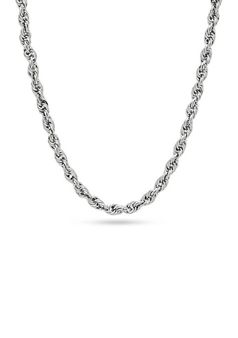 Belk & Co. Sterling Silver Glitter Rope Chain