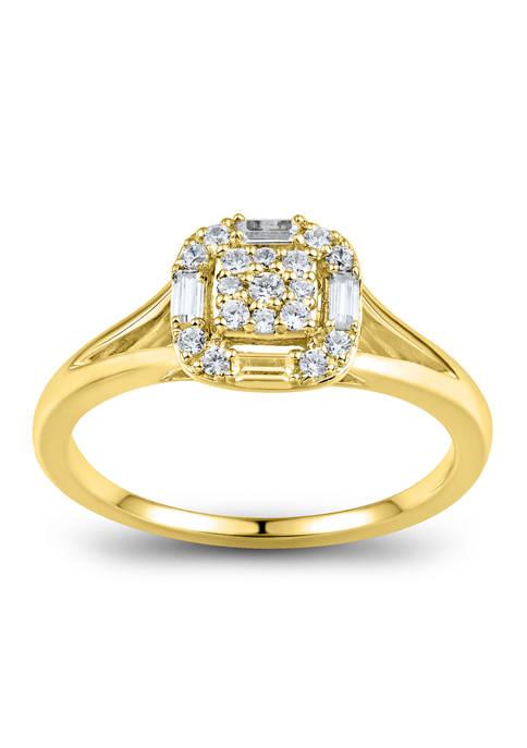 1/4 ct. t.w. Diamonds Ring in 10K Yellow Gold