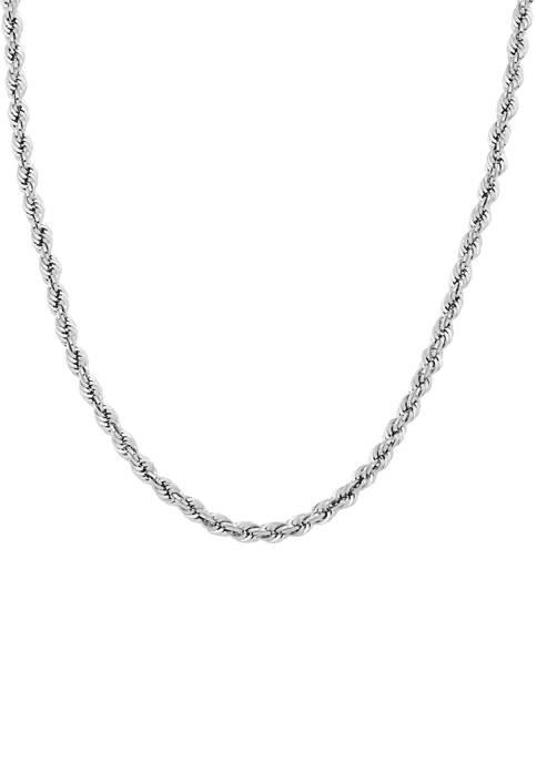 Belk & Co. Sterling Silver 4-MM Glitter Rope