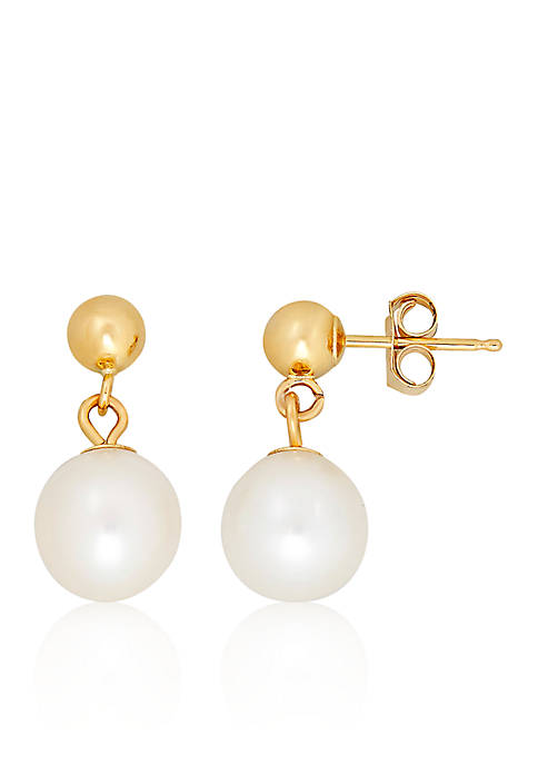 Belk & Co. Freshwater Pearl Ball Earrings in