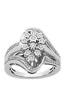 Belk & Co. 1/4 ct. t.w. Diamond Ring in Sterling Silver