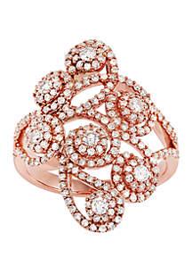 1 ct. t.w. Diamond Ring in 10k Rose Gold