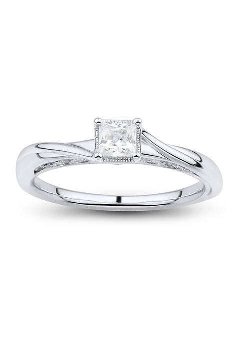 1/2 ct. t.w. Diamond Ring in 14K White Gold