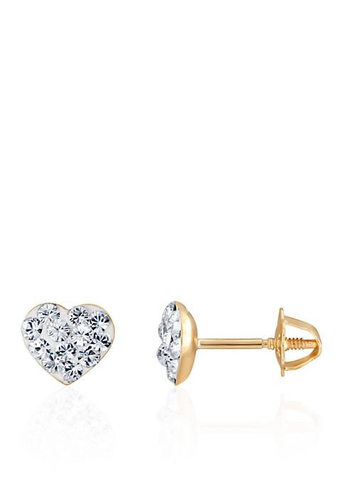 Belk & Co. Crystal Baby Heart Earrings in