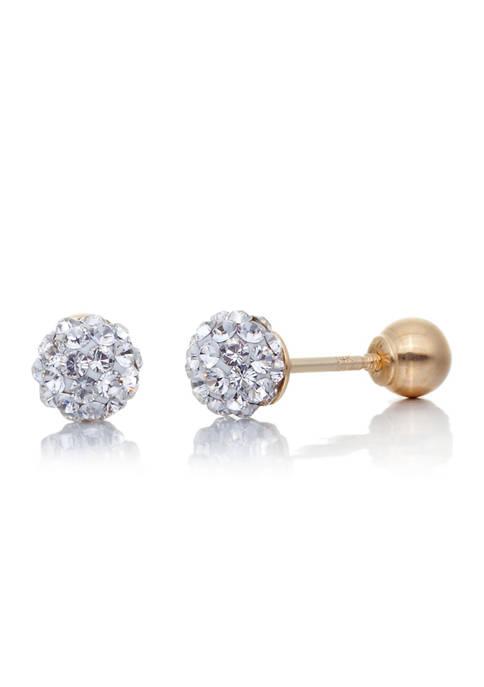 Belk & Co. Crystal Ball Baby Earrings in