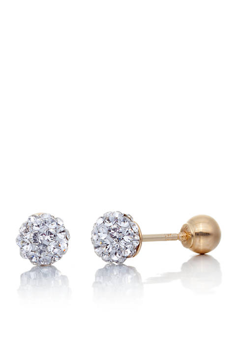 Belk & Co. Crystal Ball Baby Stud Earrings